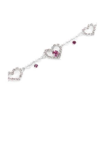Glamorousky purple Great Affection Bracelet with Purple Austrian Element Crystals 83C96ACE04E520GS_1