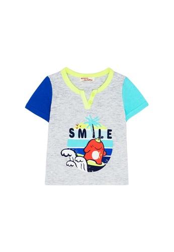 Du Pareil Au Même (DPAM) grey Smile T-Shirt 9667DKA9725353GS_1