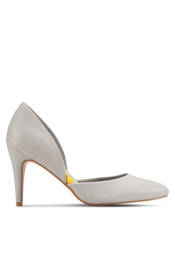 Nose grey Pointed Toe D'orsay Pumps NO327SH37PZEMY_1