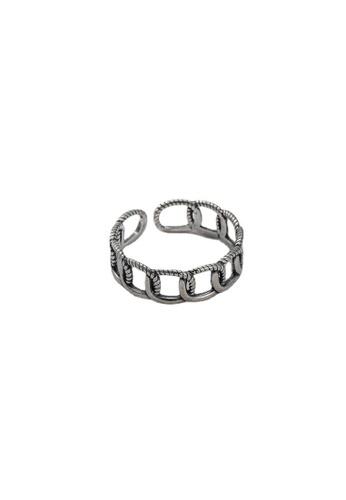 LYCKA silver LPP9015 Retro Chains Ring 6CC07AC61BD17EGS_1