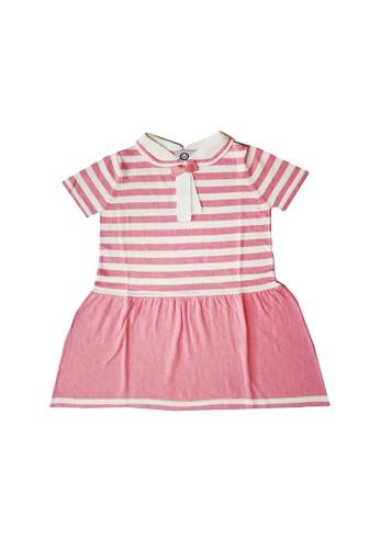 ET Panda white and pink Extra Terrestrial Panda 100% Cotton Pink & White Stripe Dress DCD3AKAE0F4D4AGS_1