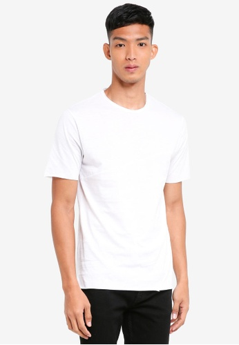 Only & Sons white Stewie Slub Tee 08C3BAA5901486GS_1
