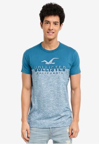 Hollister blue Iconic Tech Blocking T-Shirt 71ED8AA7364769GS_1