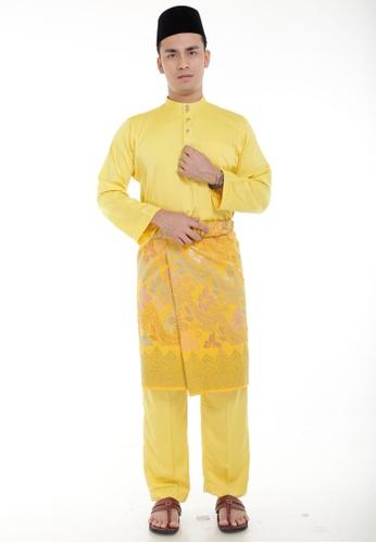 Amar Amran yellow Baju Melayu Classic AM362AA02MIJMY_1