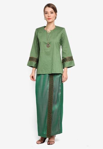 Yans Creation green Nas Kurung Kedah 161CBAA7853D79GS_1