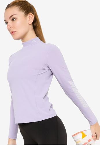 Anta 紫色 C100 長袖T恤 A3FC0AAA40B1C9GS_1