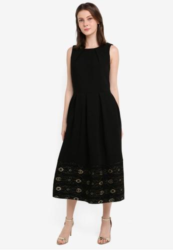 CLOSET black Closet Lace Hem Dress F4874AACCC433EGS_1
