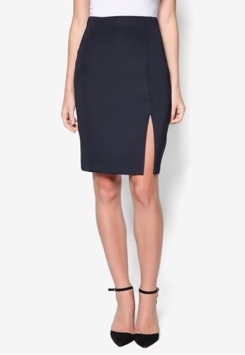 側開衩鉛筆短裙,zalora 包包 ptt 服飾, 迷你裙