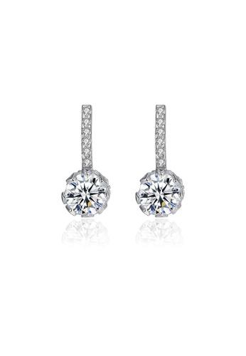 SUNRAIS silver High quality Silver S925 silver simple design earrings BE479AC136AE6DGS_1