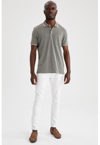 DeFacto green Short Sleeve Polo T-Shirt ED0F8AAE8BB080GS_1