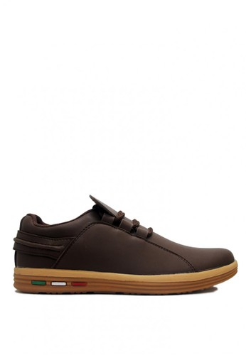 D-Island brown D-Island Shoes Driving Comfort Leather Brown DI594SH0VXZ2ID_1