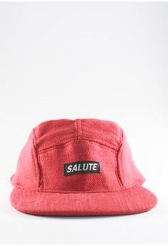 Grain Red 5 Panel Hat