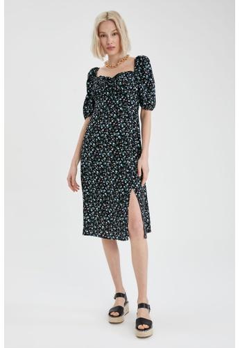 DeFacto black Puff Sleeve Mini Dress 41850AA0F0649DGS_1