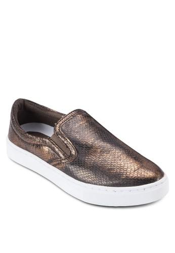 Farilyn 金屬感膠底懶人esprit手錶專櫃鞋, 女鞋, 鞋