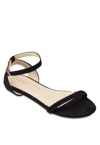 Shelby 交叉踝帶esprit 價位基本款涼鞋, 女鞋, 鞋
