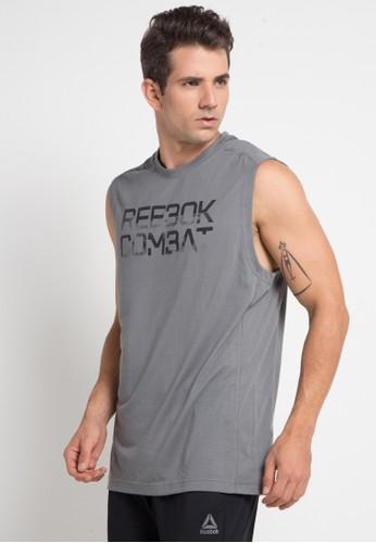 Reebok grey Combat Muscle Tank 224CBAABD015AEGS_1