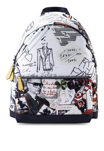 Fendi multi Nylon Graphic Backpack 65DA1AC671AAF9GS_1
