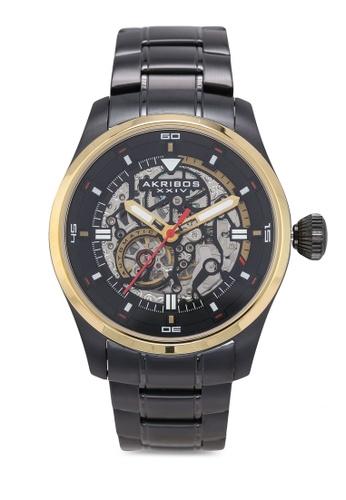 Akribos XXIV black Automatic Skeleton Watch 62274ACFB3976AGS_1