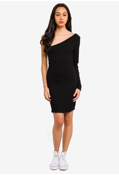 56fff29f2a 30% OFF Supre One Shoulder Rib Dress RM 137.00 NOW RM 95.90 Available in  several sizes