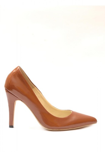 M&G brown Abegail Heels by M&G MG741SH14CBLPH_1