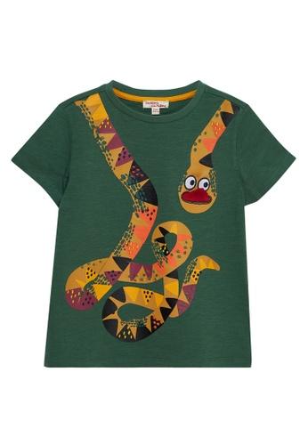 Du Pareil Au Même (DPAM) green Green T-shirt 67797KA55D0923GS_1