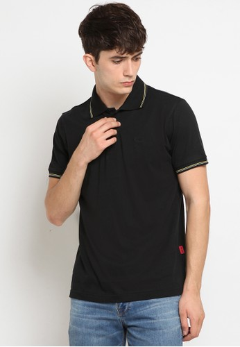 Police Denim black Comfort Polo Shirt 4053DAA2E50DB3GS_1