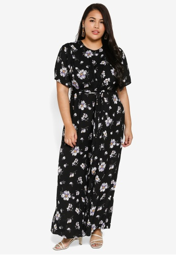 6c233696cc7 Plus Size Jumpsuit In Woven Printed Floral