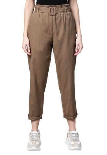RedCheri 褐色 棕色带带子裤 45FFCAA9996E3DGS_1