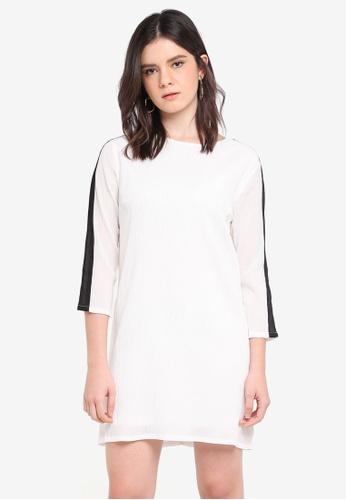 ZALORA black Stripe Detail Dress B9882AA2AC166DGS_1