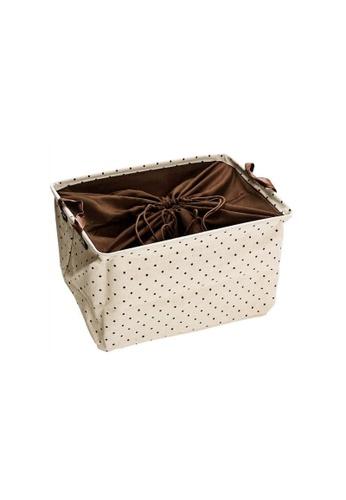 DILAS HOME Polka Dot Storage Basket - Large 5AAC7HL034FC75GS_1