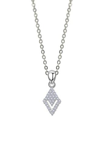 SC Tom Silver silver Diamond Stone Pendant with Chain-TPS585 w/chain SC872AC68JWHPH_1
