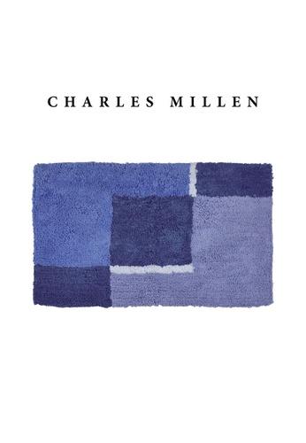 Charles Millen blue 2 Pcs Charles Millen Hampton Tufted Bath Mat with Anti Slip coating 50 x 80cm/ 720g C3EFEHLBB0CAC3GS_1
