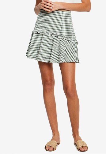 The Fated green Norma Mini Skirt CB8F6AA615CE8EGS_1