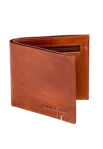 ENZODESIGN brown Italian Leather Ultra Slim Wallet CECD5ACCDD8E5FGS_1