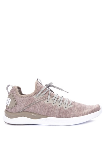 Puma beige Ignite Flash Evoknit Training Shoes 54D6BSH383EB66GS_1