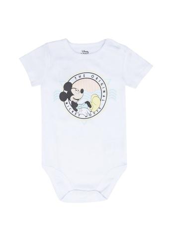 FOX Kids & Baby white Short Sleeve Bodysuit B5102KA0AF5B4AGS_1