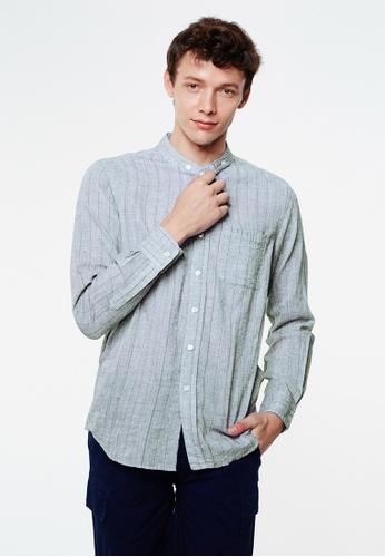 Life8 blue Cotton Light Long-sleeved Shirts-03957-Blue LI283AA0GOP6SG_1