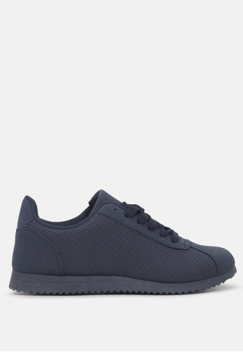 London Rag navy Active Casual Lace UP perforated Sneakers B8E3BSH4C4AE0BGS_1