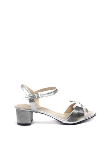Beauty Shoes silver Beauty Shoes 1448 Heels Silver 57C02SHD2F337FGS_1