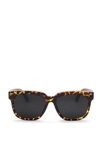 Kaca-kaca black and brown Kaca Kaca Gabby Leopard Sunglasses KA666AC0S06VMY_1