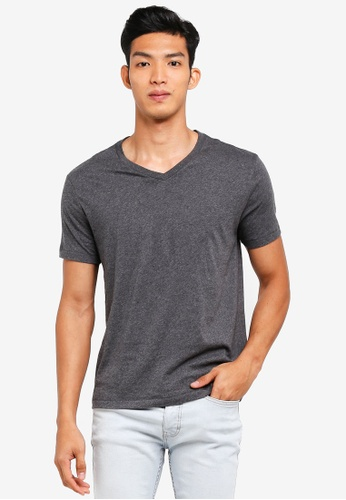 GAP grey Essential V-Neck T-Shirt 5B9DBAAB1151E5GS_1