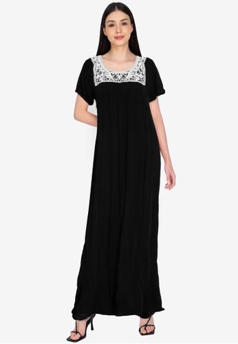 Chictees black Lila Maxi Dress AA26FAAD873E1CGS_1