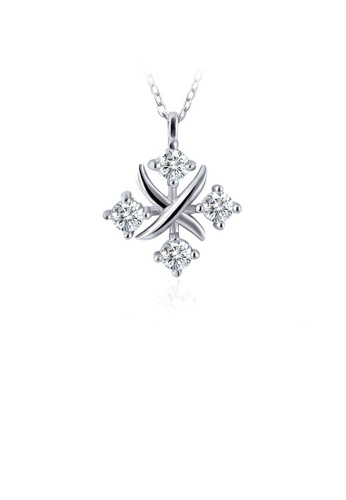 Glamorousky white 925 Sterling Silver Horoscope Pendant with White Austrian Element Crystal and Necklace CF536ACCE435BCGS_1