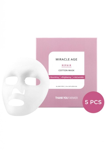 Thank You Farmer THANK YOU FARMER Miracle Age Repair Cotton Mask (5pcs) TH577BE09MRQMY_1