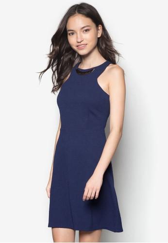 閃飾削肩洋裝,zalora 衣服評價 服飾, 派對洋裝