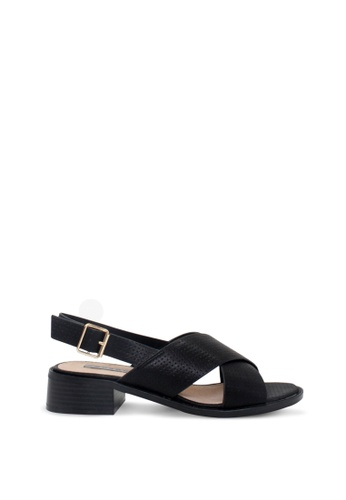 London Rag black Women's Heel Sandals E0241SHD6F5D2EGS_1