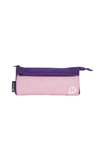 Kags purple KAGS Ashton Series 5-Pocket Pencil Case - Purple 59131KC0355943GS_1
