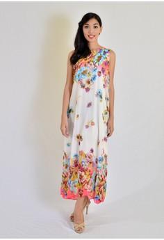AW long floral dress