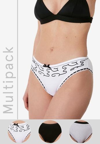 Trendyol black and white 3-Pack Cotton Panties B38ECUS7698331GS_1