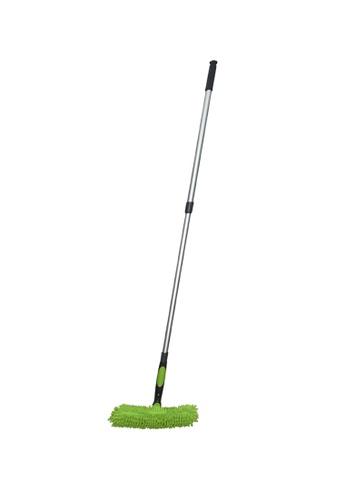 Scrubz green Heavy Duty Cleaning Essentials Easy Grip Premium Microfiber Window Washer Cleaner & Squeegee D6E13HLB5D8F9CGS_1